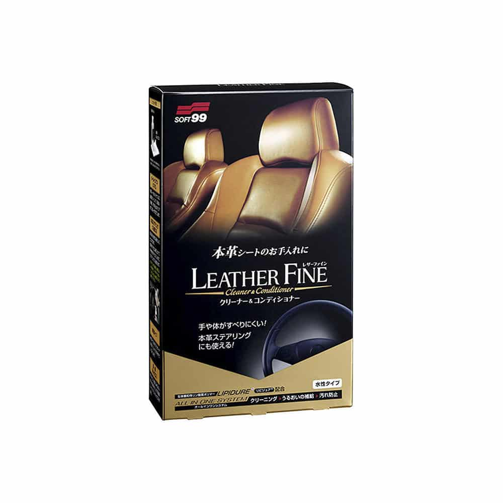 soft99 leather fine cleaner conditioner new