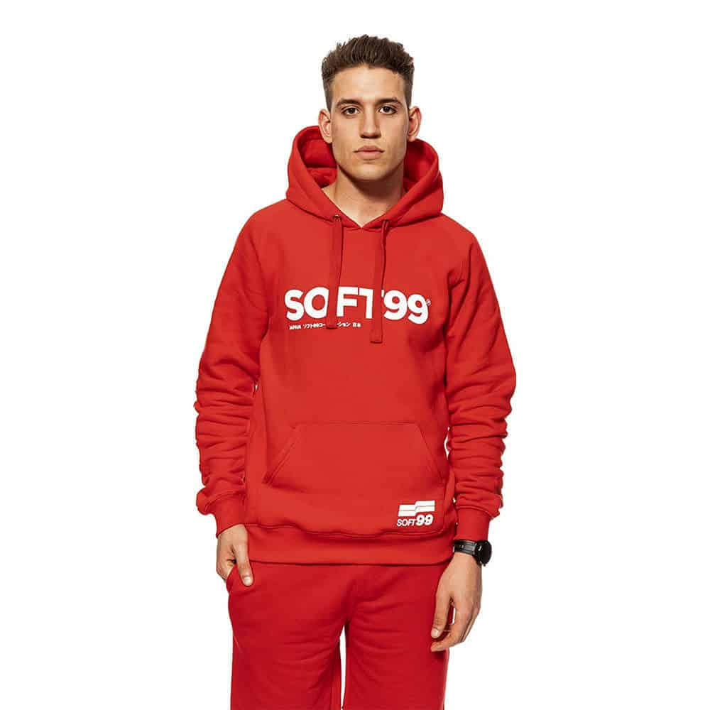 soft99 red hoodie new