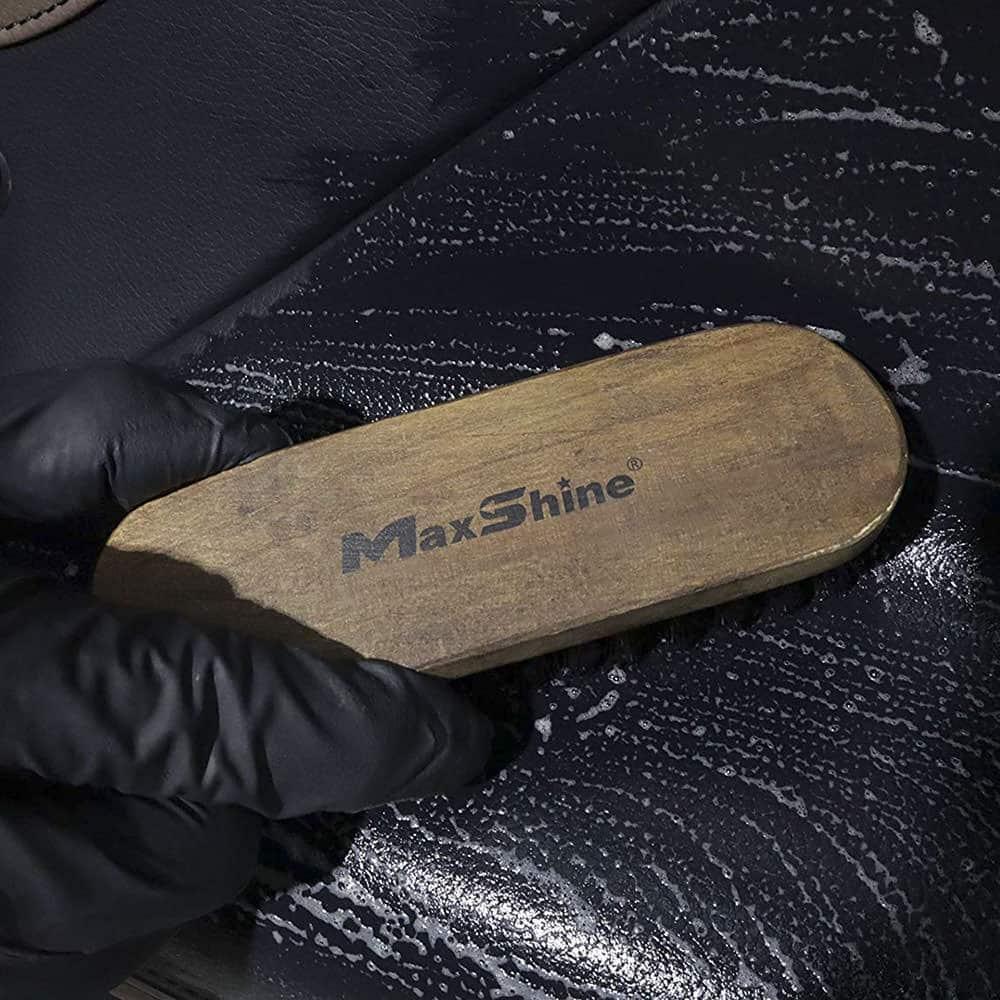 maxshine leather and alcantara cleaning brush 2