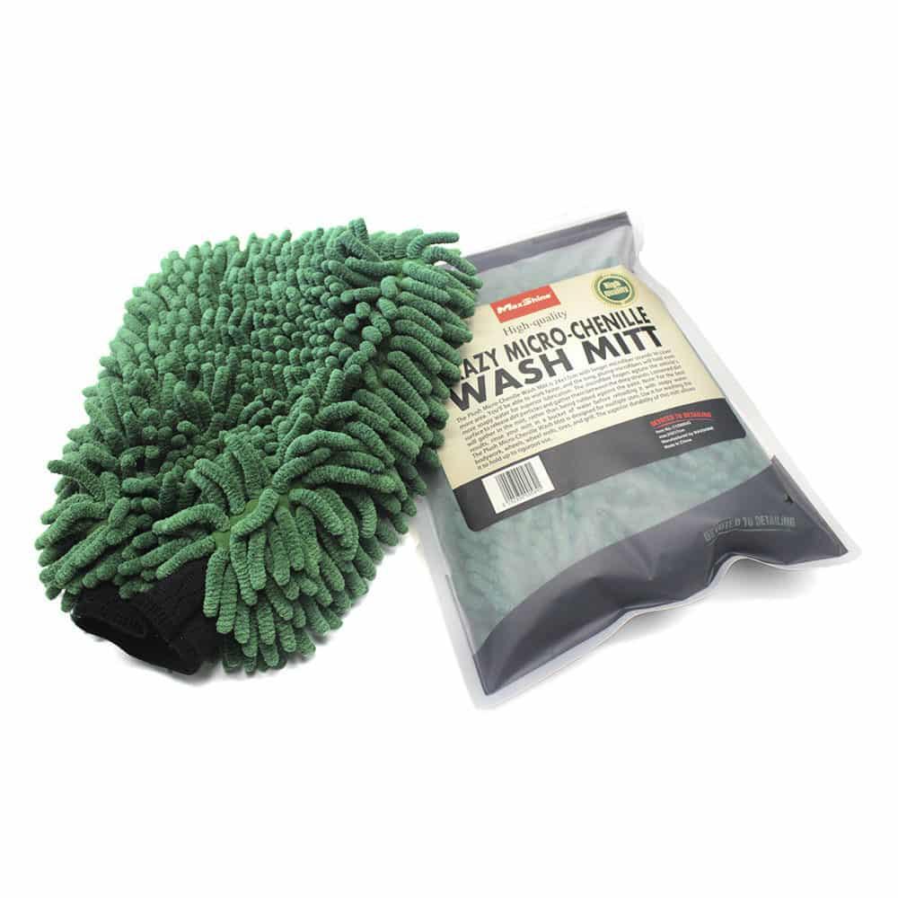 maxshine micro chenille wash mitt green